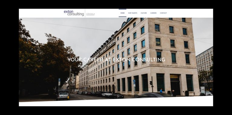 Screenshot Webseite Exton Consulting